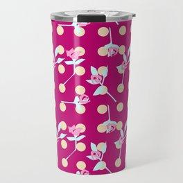 roses and dots Travel Mug