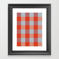 Pixel Plaid - Autumn Bark Framed Art Print