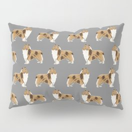 Rough Collie pet portrait custom dog breed gifts for collie owner by pet friendly Pillow Sham