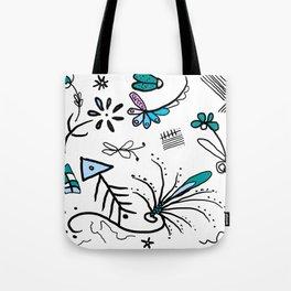 Twiggy pop garden Tote Bag