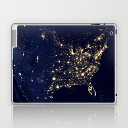 City Lights of the United States - NASA Earth Observatory Laptop & iPad Skin
