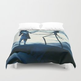 jack and sally love Duvet Cover