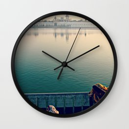 Rituals of India. INDIA TEMPLE LAKE  Wall Clock