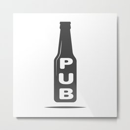 Pub Beer Brewery Handcrafted style Fashion Modern Design Print! Metal Print