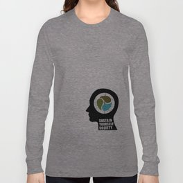 sustain yourself society Long Sleeve T-shirt