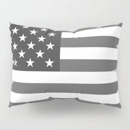 US national flag in Black and White Pillow Sham