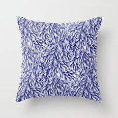 Fur Indigo Throw Pillow