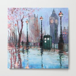 dr who art painting Metal Print