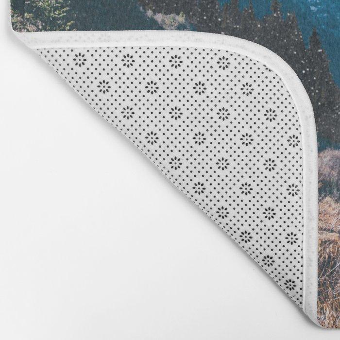 1960's Style Mountain Collage Bath Mat