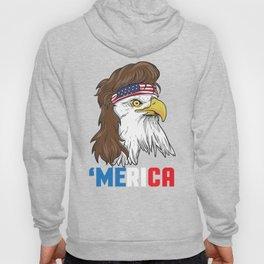Patriotic Mullet Eagle | Merica Stars and Stripes Hoody
