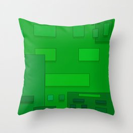 green geometric fantasy Throw Pillow
