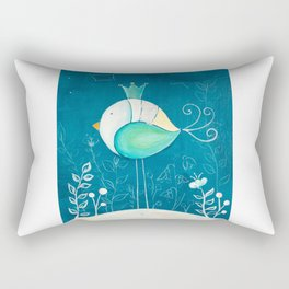 Little prince with a green crown Rectangular Pillow
