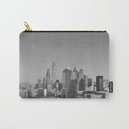 Black and White Philadelphia Skyline Carry-All Pouch