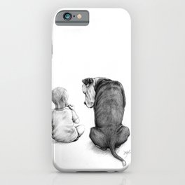 Friends for Life Dog and Child iPhone Case