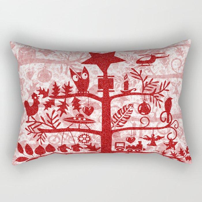 CHRISTMAS TREE red ITINERANT Rectangular Pillow
