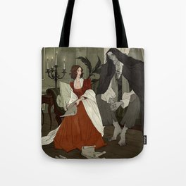 Mary Shelley and Her Creation Tote Bag