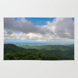 P El Yunque National Forest Rain forest Puerto Rico Rug