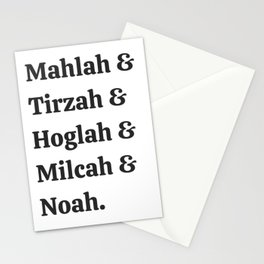 Team Daughters of Zelophehad! Inspiring Biblical Women Stationery Cards