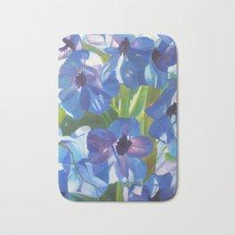 Blue Blooms Bath Mat