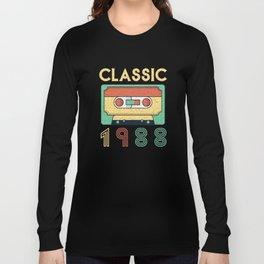 Classic 1988 Mixtape Cassette Birthday Long Sleeve T-shirt