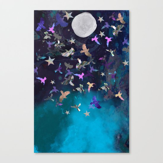 Midnight Birds Canvas Print