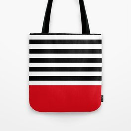 Rouge Rayures Tote Bag