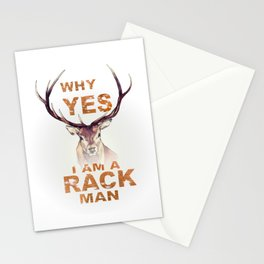 Why Yes I Am A Rack Man Funny Deer Shirt Hunting Shirt Stationery Cards