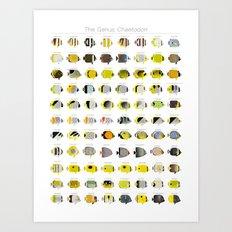 The Genus Chaetodon Art Print