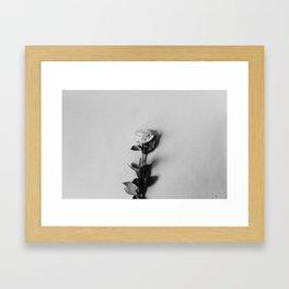 Black & White Minimalist Rose Framed Art Print