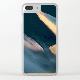 Ignite: colorful abstract in blue pink and gold Clear iPhone Case