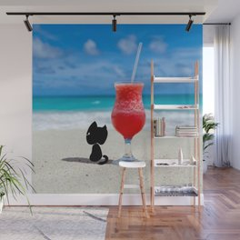Outdoor Lifestyle - Beach Cat Relax Wall Mural