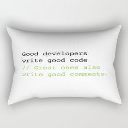 Good developers write good code... Rectangular Pillow
