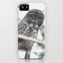 Let Us Prey - Great Grey Owl & Mouse iPhone Case