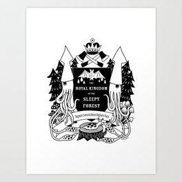 The Royal Kingdom of the Sleepy Forest Art Print