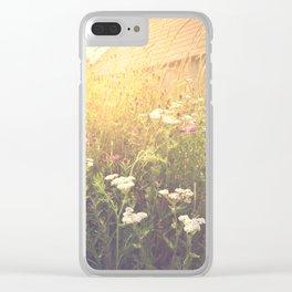Boho Summer Sunshine Clear iPhone Case