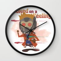 starlord Wall Clocks featuring STARLORD by Doctor Keros