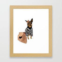 Grease Lightning Dog Framed Art Print