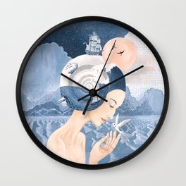 Sound of Sea Wall Clock