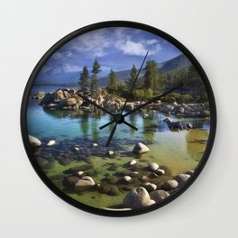 Sand Harbor Morning Wall Clock