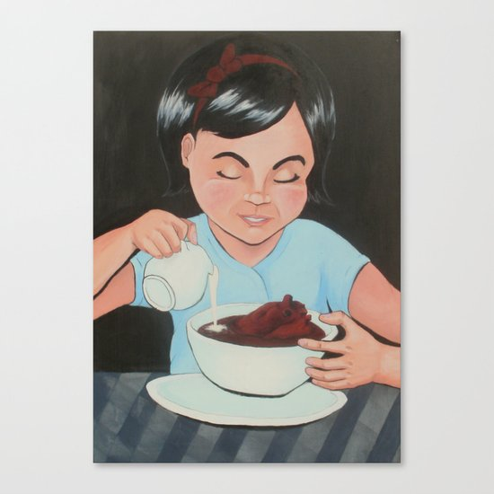 Eat It (Before It Gets Cold) Canvas Print