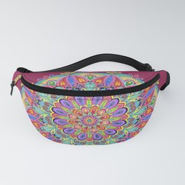 Exotic Bloom Mandala Fanny Pack