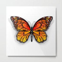Orange Butterfly Monarch Metal Print