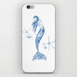 Sleeping Mermaid and Brittle stars iPhone Skin