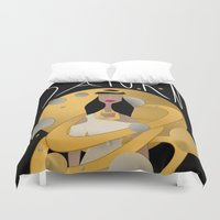 saturn Duvet Covers featuring Saturn by Jessika