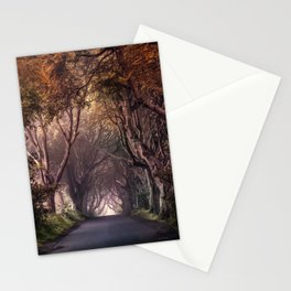 Autumn alley in Northern Ireland Stationery Cards