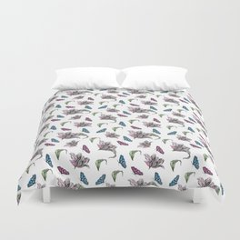 Tulips and Butterflies Duvet Cover