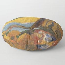 Vincent van Gogh painting sunflowers by Paul Gauguin Floor Pillow