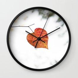 Heart leaf Wall Clock