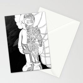 Black and White Kaws Stationery Cards