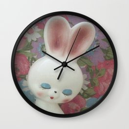 White Hare Wall Clock